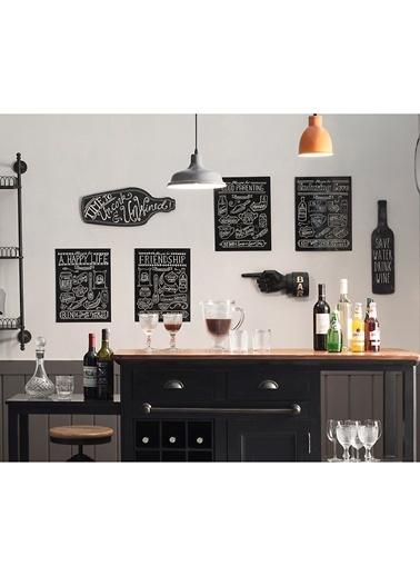 Warm Design Sevgi & Mutluluk Tarifleri Duvar Dekoru Siyah
